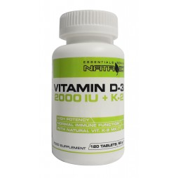 Vitamin D3 2000IU + K2 120 cpr